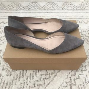 Marc Fisher Gray Suede Flats